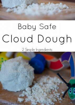 Baby Safe Cloud Dough from Lemon Lime Adventures