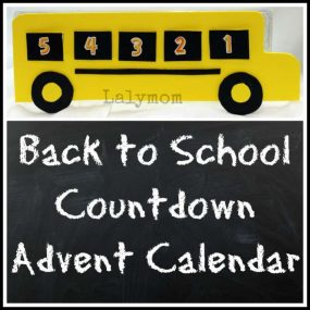 Back to School Countdown Calendar Craft from Lalymom