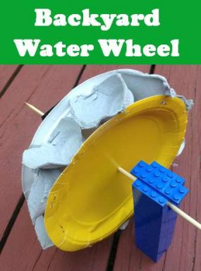 Backyard Water Wheel from iGameMom