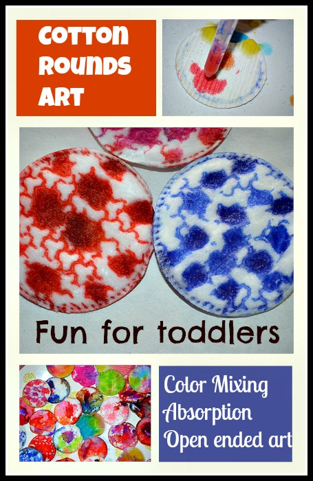 Cotton Rounds art for toddlers and preschoolers