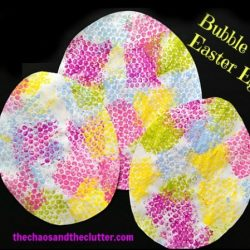 Bubble Wrap Easter Eggs from The Chaos and the Clutter
