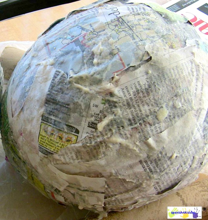 How to paper mache make a bunny easter craft for How do you make paper mache glue at home