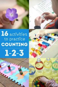 16 counting activities for preschooler to practice their 1-2-3s