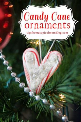 Candy Cane Hearts Ornaments from Tips From a Typical Mom