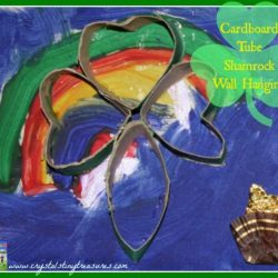cardboard tube shamrock craft