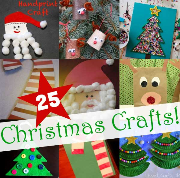 25 easy christmas crafts for kids to make - Pictures Of Crafts For Kids