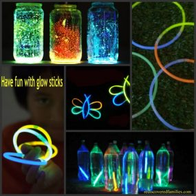 5 Ways to Have Fun WIth Glow Sticks from Rediscovered Families