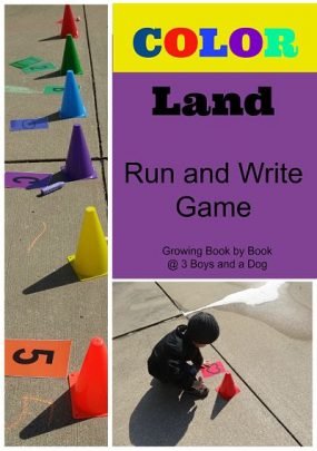 Color Land Run and Write (Candy Land) from 3 Boys and a Dog