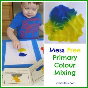 Mess Free Primary Colour Mixing from Craftulate