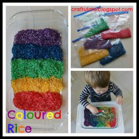 Rainbow Colored Rice