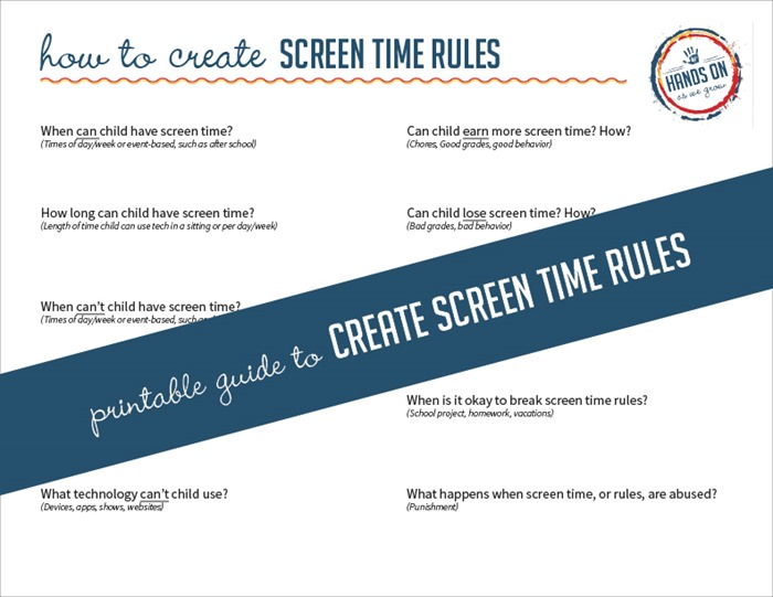 photograph about Screen Time Rules Printable referred to as Working Display screen Season Legislation for Small children + Cost-free Specialist Arms Upon