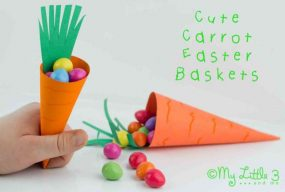 Carrot Easter Baskets-Free Printable