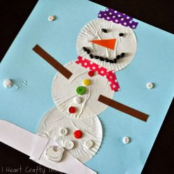 Coffee Filter Snowman Craft