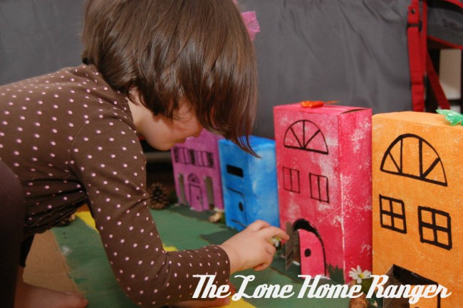 Cardboard Box Town Craft And Art For Kids