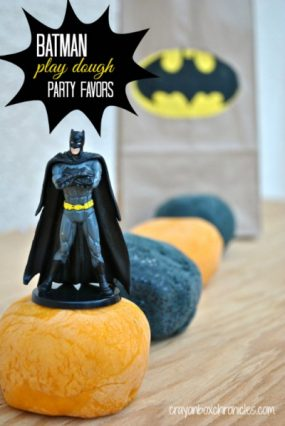 Batman Play Dough & Party Favors from Crayon Box Chronicles