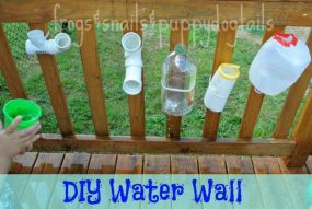 DIY Water Wall from Frogs and Snails and Puppy Dog Tails