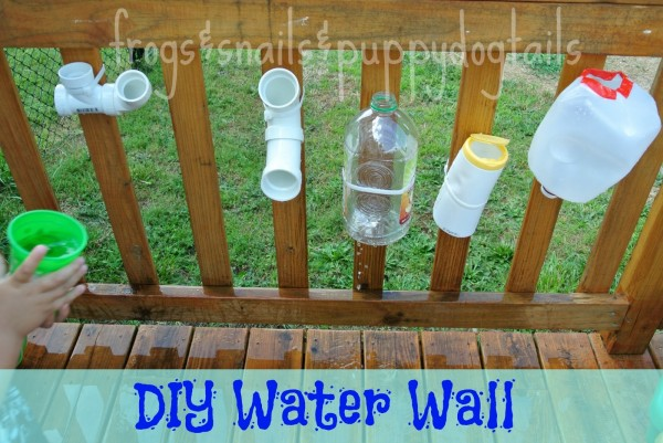 Diy water wall from frogs and snails and puppy dog tails for Diy water wall