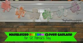 Marbleized Rainbow Clover Garland