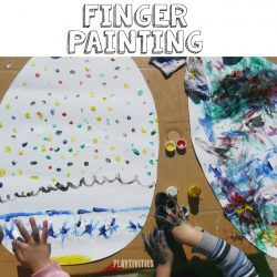Finger Painting Easter Eggs from Playtivities