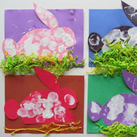 Marshmallow Bunny Spring Craft