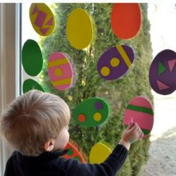 Window Egg Art from The Pleasantest Thing