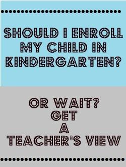 Kindergarten Readiness: Enroll or Wait