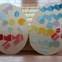 Paint Chip Easter Eggs from Sunny Day Family