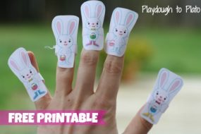 Five Little Bunnies Printable Finger Puppets