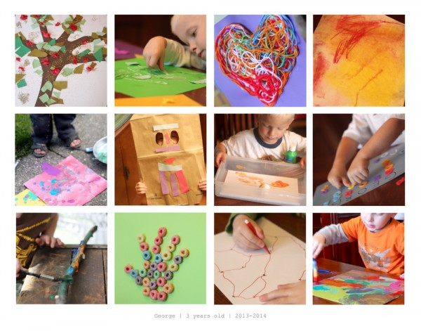 Collage to display kids artwork