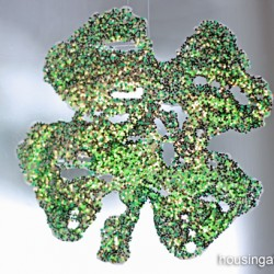window cling shamrock - 1 of the 20 shamrock crafts for kids to make