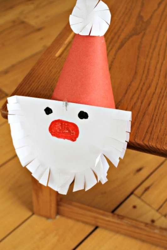 Snip Santa S Beard As Cutting Practice For Preschoolers