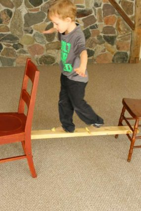 A Balancing Indoor Activity for Toddlers