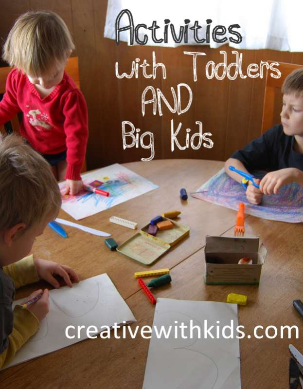 Tips for Doing Activities with Toddlers AND the big kids