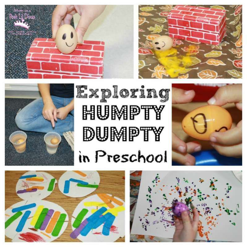 nursery rhymes lesson plans for preschool exploring humpty dumpty in preschool 859