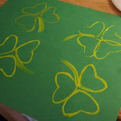 shamrock prints - 1 of the 20 shamrock crafts for kids to make