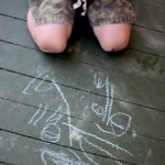 Sidewalk Chalk Drawing & Mark Making