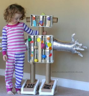 Life Sized Magnetic Robot from Fun At Home With Kids
