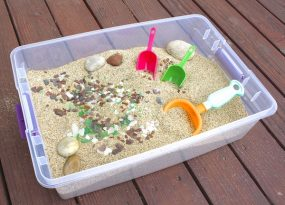 Beach Themed Sensory Box from Buggy and Buddy