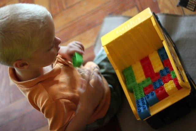 Clean up toys with a Blocks Transport