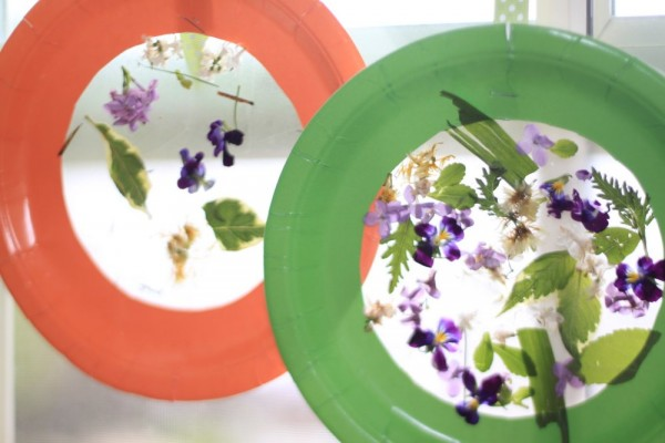 Craft for Toddlers: Nature Collage Suncatcher