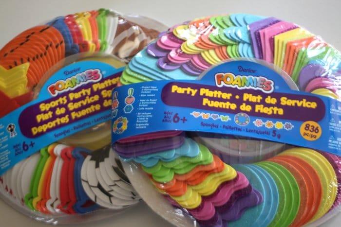Foamies Party Platters from Michaels #foamcraft