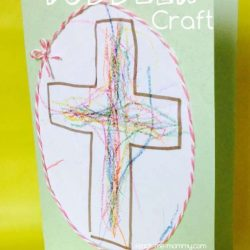 Cross Easter Card from Teach Me Mommy