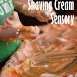 Halloween Shaving Cream Sensory Activity