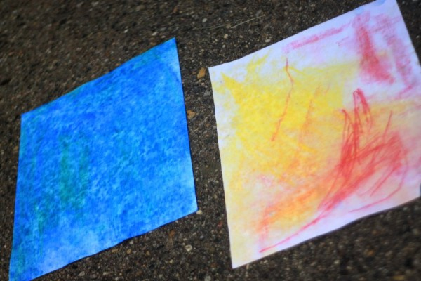 Fun Process Art for the Kids: Make Rain Art!
