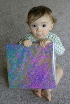 Colored Rice Art from Fun At Home With Kids