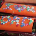 Father's Day Craft: Confetti Sprinkled Candy Bar Wrappers