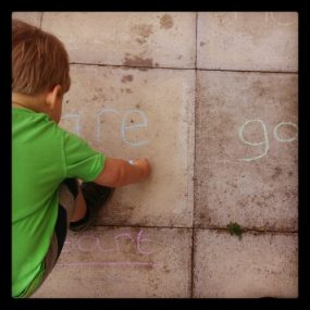 Learning words through play in the sun from Just the Way We Want To