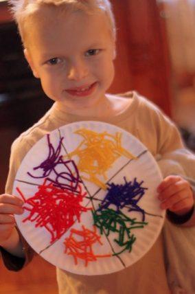 Yarn Color Wheel Craft