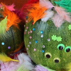 Monster Pumpkins, 1 of the 12 Googly Eyes Crafts & Activities for Halloween