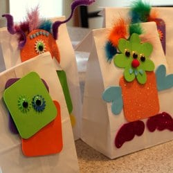 Treat Bag Monsters, 1 of the 12 Googly Eyes Crafts & Activities for Halloween
